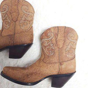 Durango 6.5 Cork Booties Cowboy Cowgirl boots